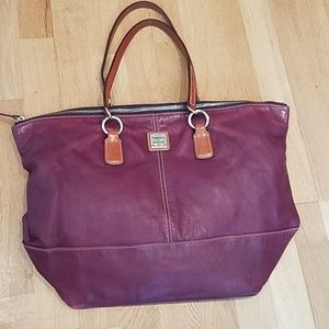 Dooney & Bourke purple o-ring tote